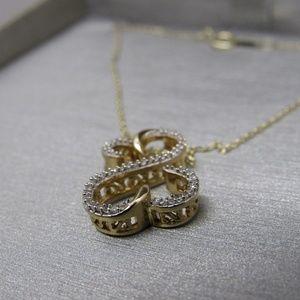 Jane Seymour Jewelry - 10k gold Jane Seymour Open Heart Diamond Necklace